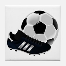 Soccer Ball And Shoes Tile Coaster