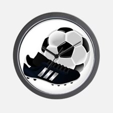 Soccer Ball And Shoes Wall Clock