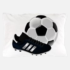 Soccer Ball And Shoes Pillow Case