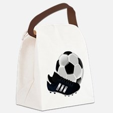 Soccer Ball And Shoes Canvas Lunch Bag