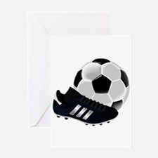 Soccer Ball And Shoes Greeting Cards