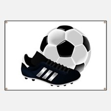 Soccer Ball And Shoes Banner