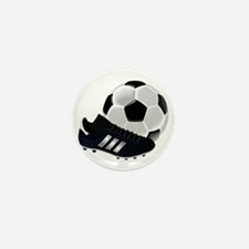 Soccer Ball And Shoes Mini Button (10 pack)
