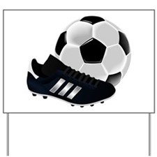 Soccer Ball And Shoes Yard Sign