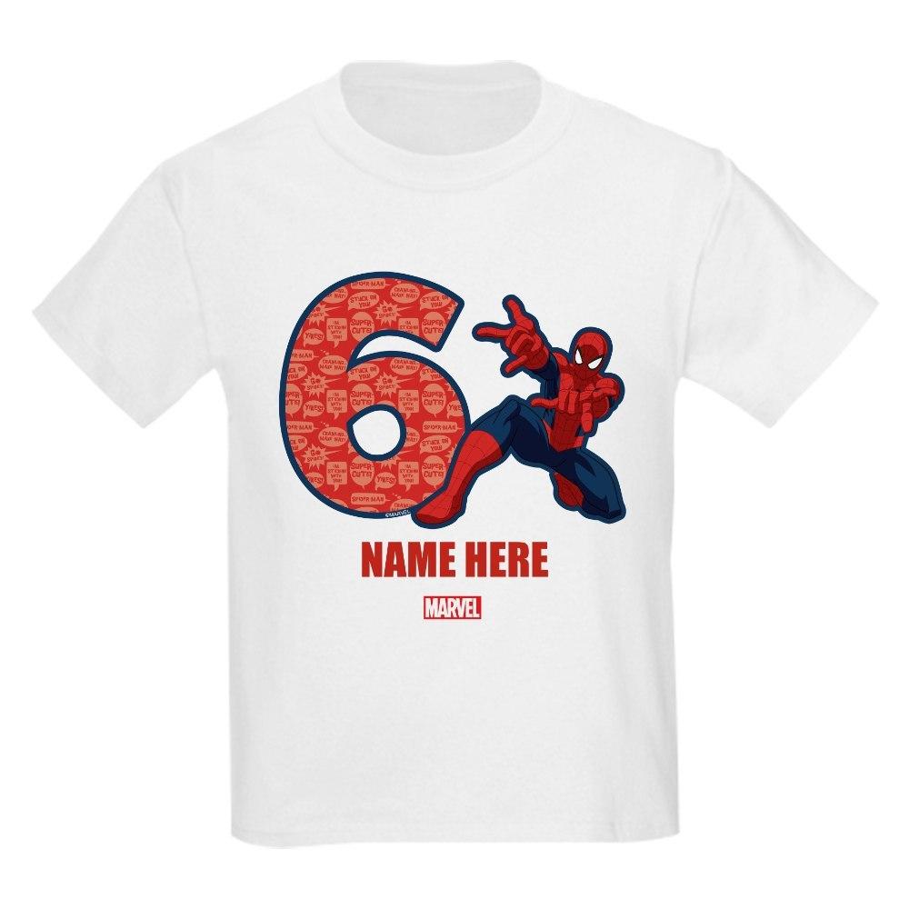 CafePress Spider-Man Personalized Birthda Kids Light T-Shirt