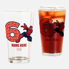 Spider-Man Personalized Birthday 6 Drinking Glass