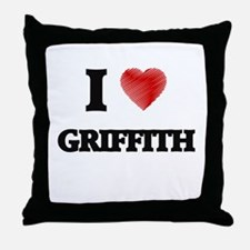 I Love Griffith Throw Pillow