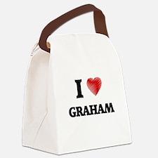 I Love Graham Canvas Lunch Bag