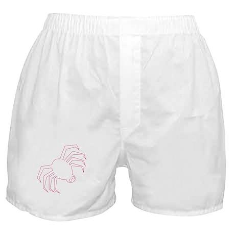 Pink Spider Halloween Boxer Shorts
