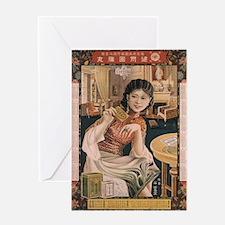 Vintage poster - Ken I Kohojo Table Greeting Cards
