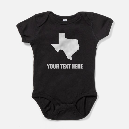 Texas baby clothes cafepress custom texas silhouette baby bodysuit negle Image collections