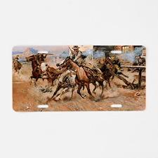 Cute Vintage horses Aluminum License Plate