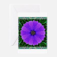 Purple Flower Pinwheel Greeting Cards