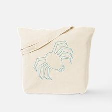 Blue Spider Halloween Tote Bag