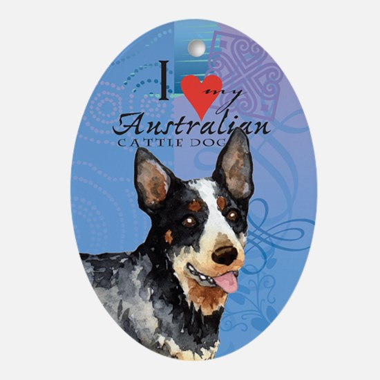 Australian Cattle Dog Oval Ornament