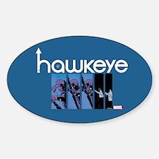 Hawkeye Panels Sticker (Oval)