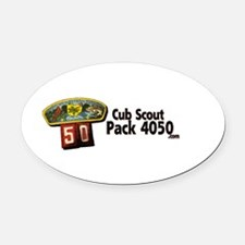 Pack 4050 Logo Oval Car Magnet