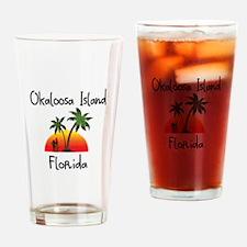 Okaloosa Island Florida Drinking Glass