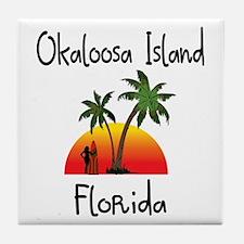 Okaloosa Island Florida Tile Coaster