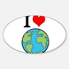 I Love Earth Decal