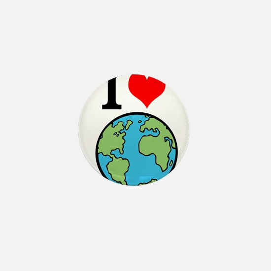 I Love Earth Mini Button (100 pack)