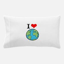 I Love Earth Pillow Case
