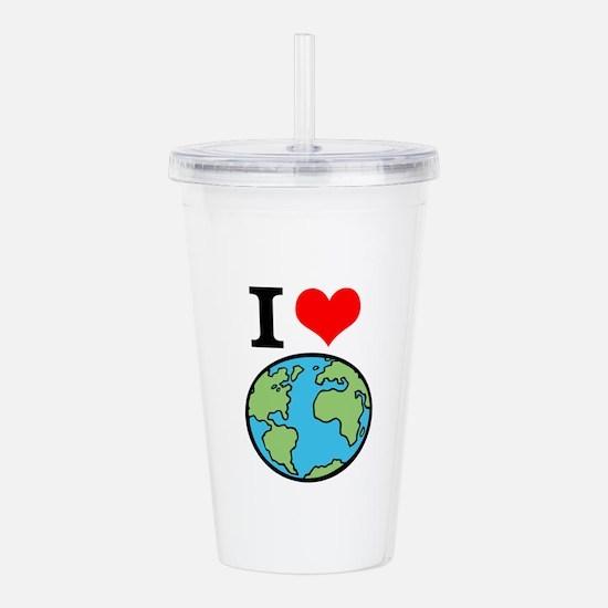 I Love Earth Acrylic Double-wall Tumbler