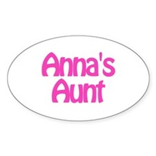 Anna's Aunt Oval Decal