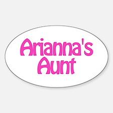 Arianna's Aunt Oval Decal