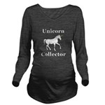 Unicorn Collector Long Sleeve Maternity T-Shirt