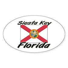 Siesta Key Florida Oval Decal