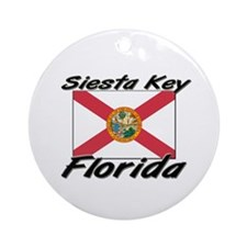 Siesta Key Florida Ornament (Round)