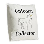 Unicorn Collector Burlap Throw Pillow