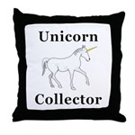 Unicorn Collector Throw Pillow