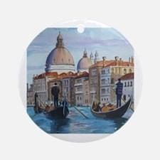 Cute Canal Round Ornament
