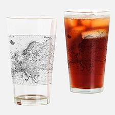 Cute Europe Drinking Glass