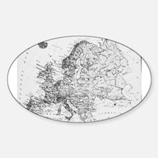 Vintage European Map Decal