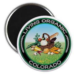 Living Organic Colorado Magnet