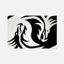 Yin Yang Dragon Magnets