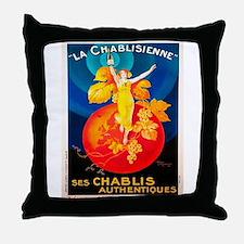 Vintage poster - La Chablisienne Throw Pillow