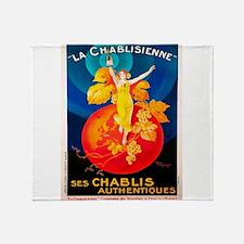 Vintage poster - La Chablisienne Throw Blanket