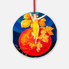 Vintage poster - La Chablisienne Round Ornament