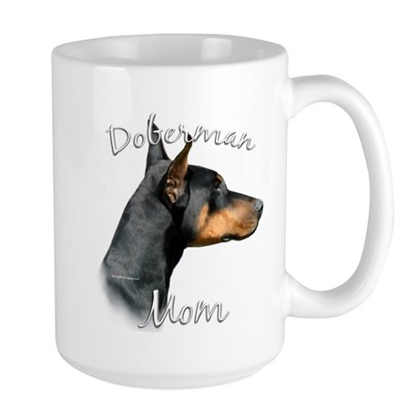Dobie Mom2 Large Mug