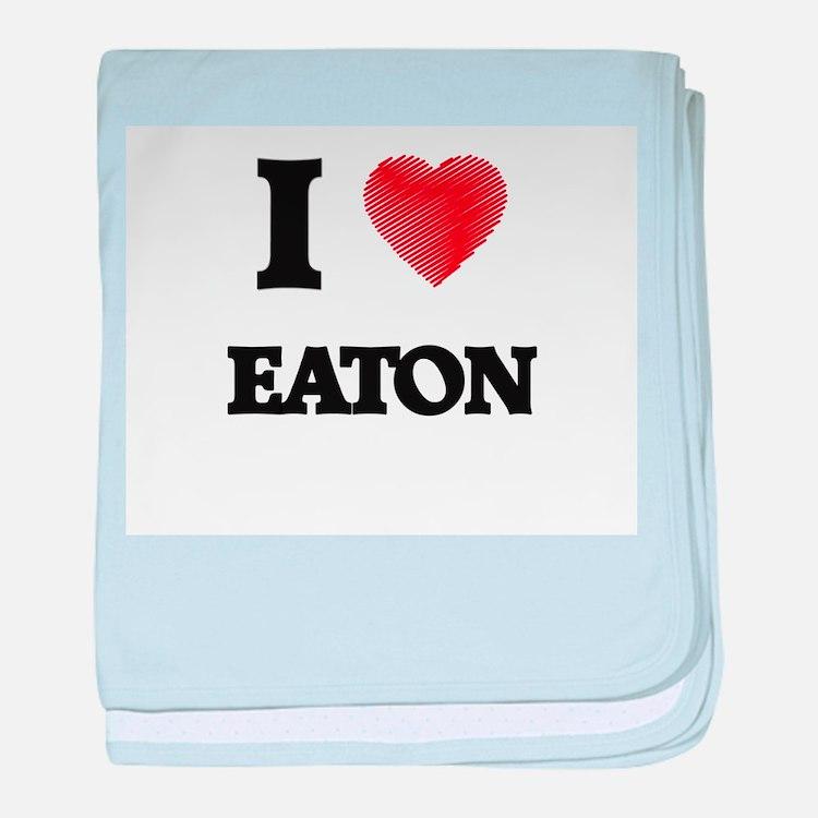 I Love Eaton baby blanket