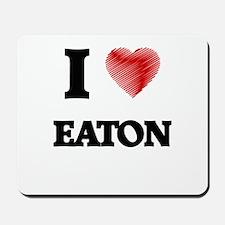 I Love Eaton Mousepad