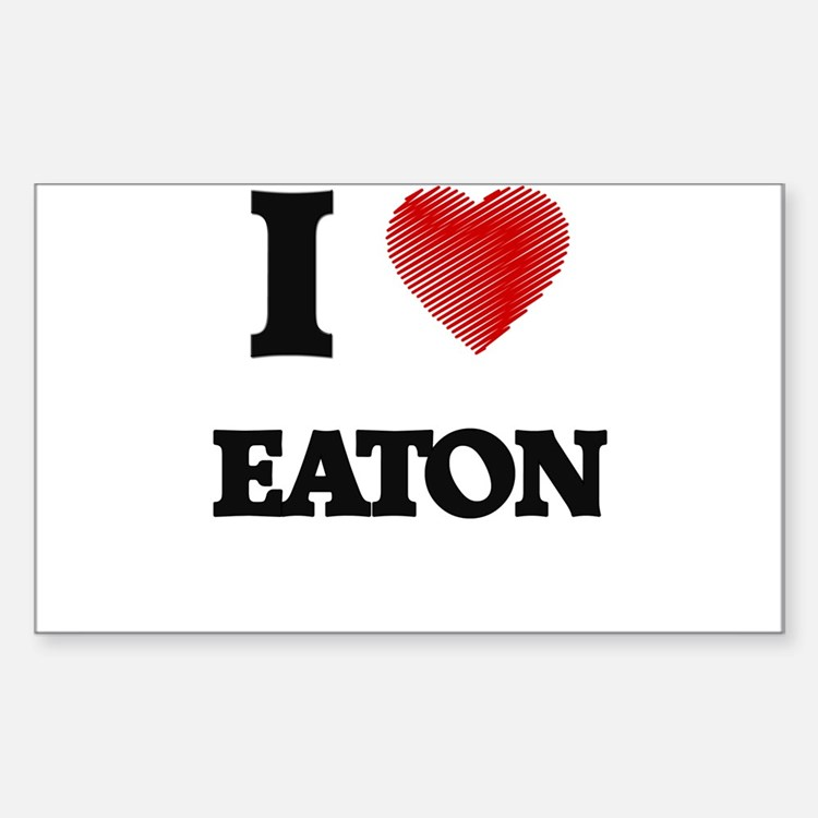 I Love Eaton Decal