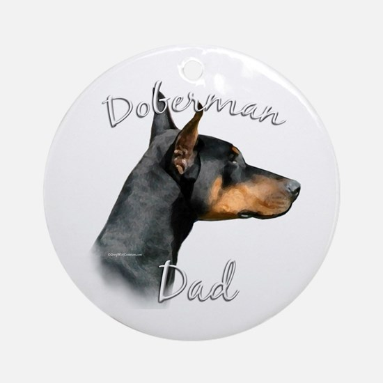 Dobie Dad2 Ornament (Round)