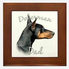 Dobie Dad2 Framed Tile
