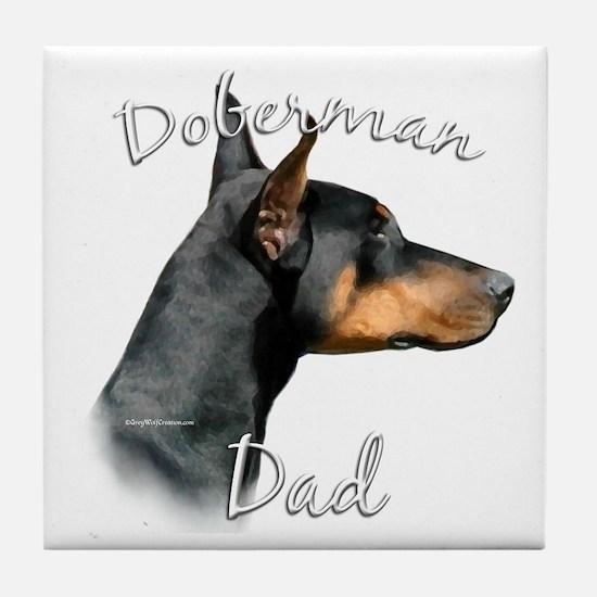 Dobie Dad2 Tile Coaster