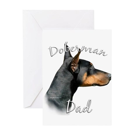 Dobie Dad2 Greeting Card